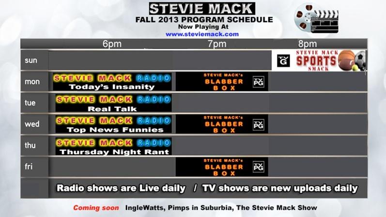 stevie mack ~ Wand Tv Programming Schedule